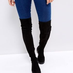 ac2e157a955 New Asos Korey Flat Over-the-knee Boots
